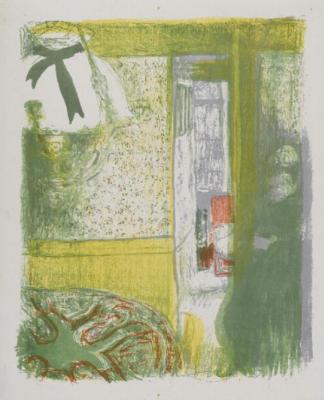 "Jean Edouard Vuillard. ""Landscapes and interiors"". Interior with hanging lamp"