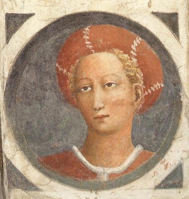Tommaso Masaccio. Medallion. Detail of the fresco of the Brancacci Chapel