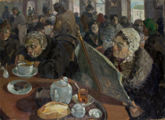 Alexey Alekseevich Repin. In the teahouse