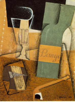 Juan Gris. Bottle and a glass