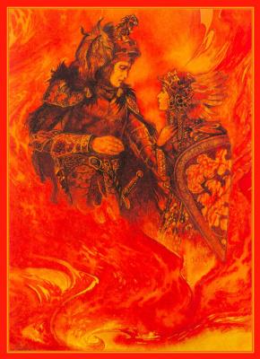 Юлек Хеадон Деидр Хеллер. Иллюстрации к книге Рыцари. Зигфрид 01