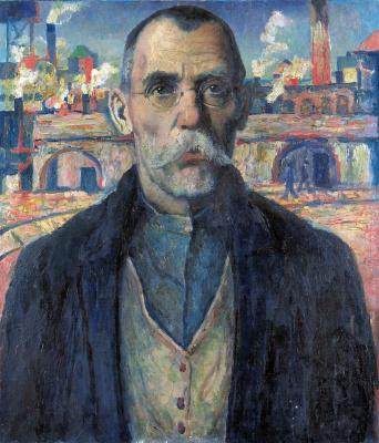 Kazimir Malevich. Portrait of a drummer (Krasnoznamenets Zharnovsky)