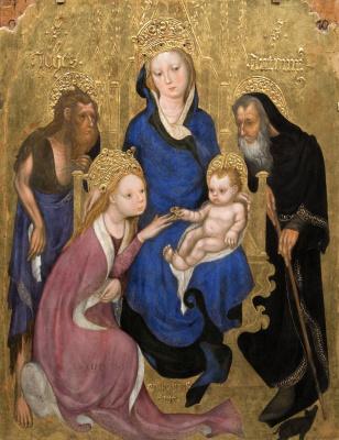 Микелино да Безоццо. Обручение Святой Екатерины