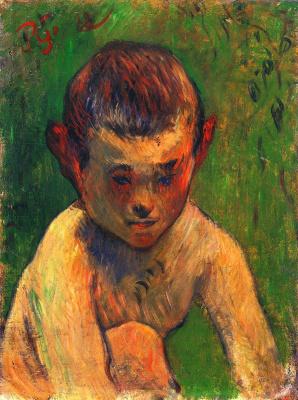 Paul Gauguin. Little Breton bather