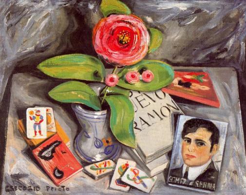 Грегорио Прието Муньос. Красный цветок в вазе