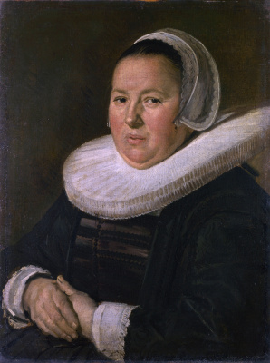 France Hals. Portrait of an elderly woman with clasped hands