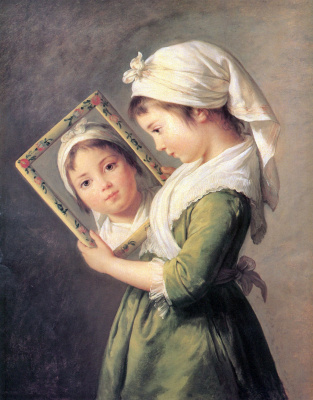 Elizabeth Vigee Le Brun. Portrait of Julie Lebrun, daughter of the artist
