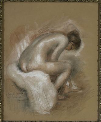 Pierre-Auguste Renoir. Seated Nude