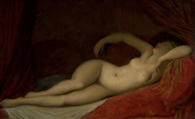 Jean Auguste Dominique Ingres. A Sleeping Odalisque