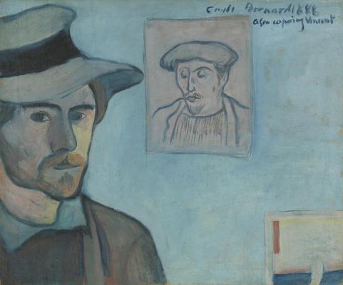 Эмиль Бернар. Автопортрет с портретом Поля Гогена