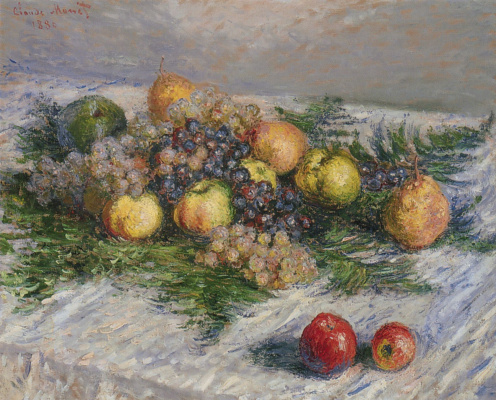 Claude Monet. Still life with pears and grapes