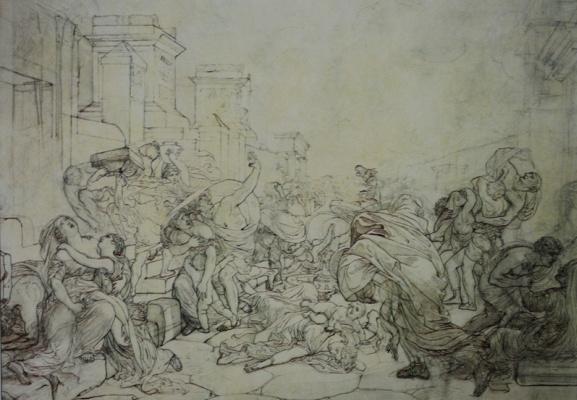 Karl Pavlovich Bryullov. The last days of Pompeii. Sketch