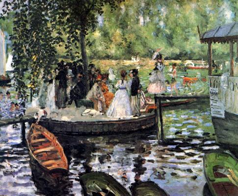 Pierre-Auguste Renoir. La Grenouillère (The Frog Pond)