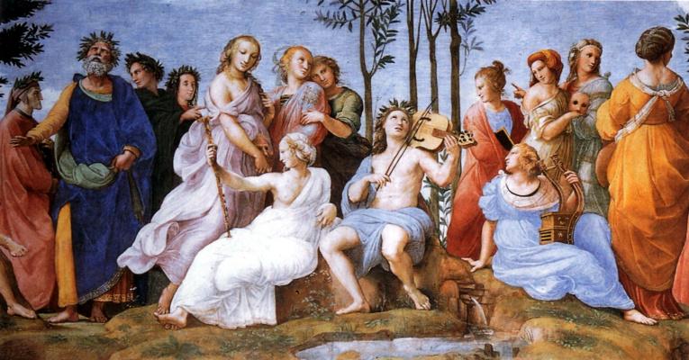 Raphael Santi. Parnassus