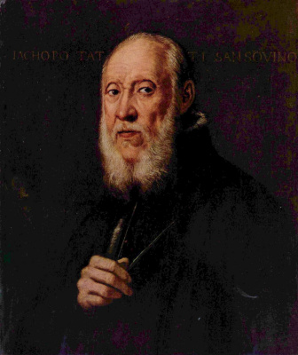 Jacopo Tintoretto. Portrait of the sculptor Jacopo Sansovino