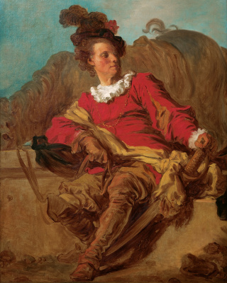 Jean Honore Fragonard. The gentleman at the fountain