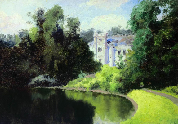 Vasily Dmitrievich Polenov. The pond in the Park. Vil'shanka