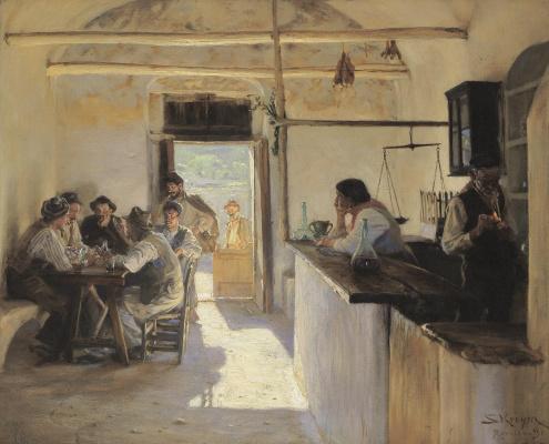Peder Severin Kreyer. Tavern in Ravello