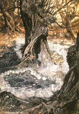 Arthur Rackham. Dance of the fairies