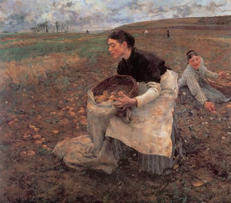 Жюль Бастьен-Лепаж. Урожай картошки