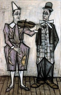 Bernard Buffet. Le cirque : Deux Clowns