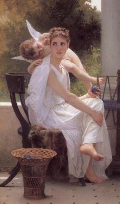 William-Adolphe Bouguereau. Interrupted work