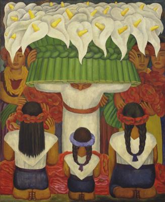Диего Мария Ривера. Фестиваль цветов: праздник в Санта Аните
