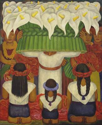 Diego Maria Rivera. Flower festival: feast of Santa Anita