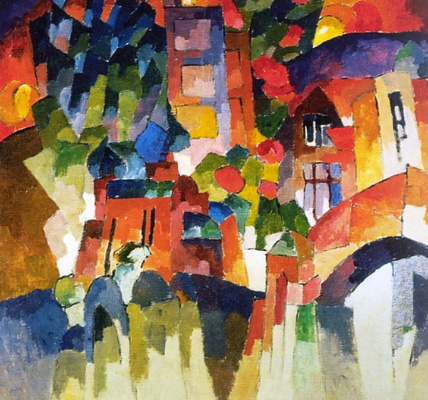 Aristarkh Vasilyevich Lentulov. Kislovodsk landscape with the doors