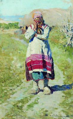 Сергей Арсеньевич Виноградов. Крестьянка. Этюд