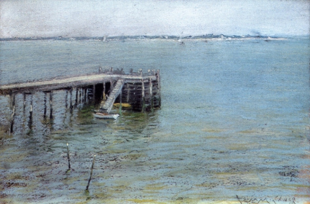 William Merritt Chase. Mooring in the Bay