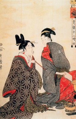 Kitagawa Utamaro. Idlers