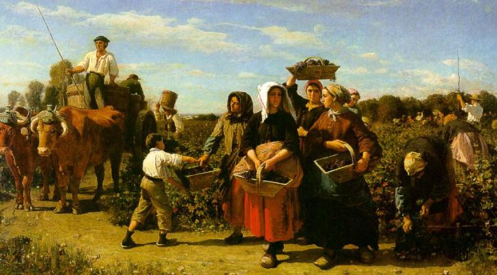 Жюль Бретон. Женщины с корзинами