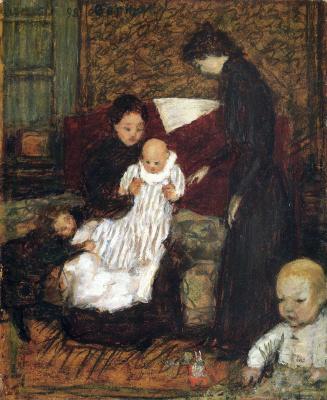 Pierre Bonnard. Women with children