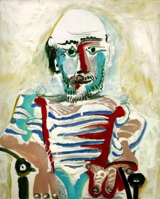 Сидящий мужчина (автопортрет Пикассо)