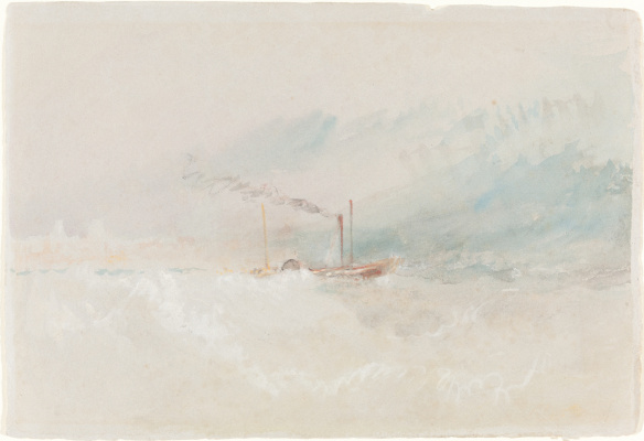 Joseph Mallord William Turner. A steamer leaves Dover