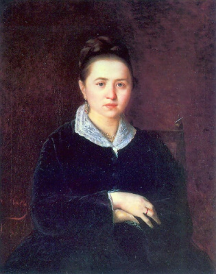 Vasily Grigorievich Perov. Portrait Of Anna Ivanovna Sergeeva (Shein). (Portrait of unknown)