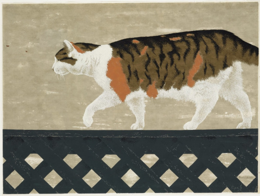 Alex Colville. Cat on the fence