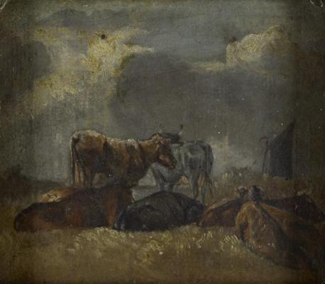 John Constable. Cows Etude