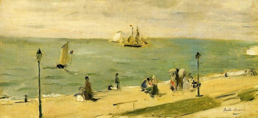 Berthe Morisot. The beach at Petit-Dalle