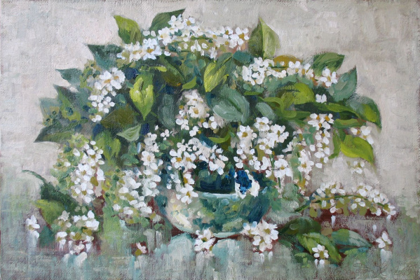 Alexander Nikolaevich Bezrodny. Bouquet of wild cherry