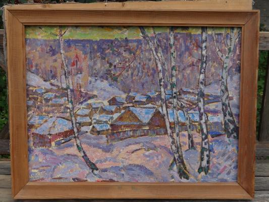 Александр Григорьевич Савичев. Деревня зимой