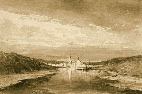 Alexey Petrovich Bogolyubov. Monastery on the river bank