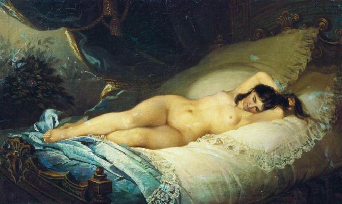 Firs Sergeevich Zhuravlev. Naked woman