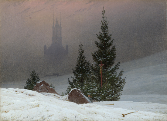 Caspar David Friedrich. Winter landscape
