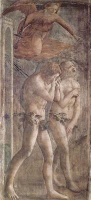 Томмазо Мазаччо. Изгнание из рая. Капелла Бранкаччи в Санта Мария дель Кармине во Флоренции