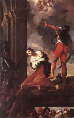 Лодовико Карраччи. Мученичество Святой Маргариты