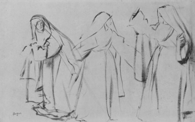 Эдгар Дега. Три монахини