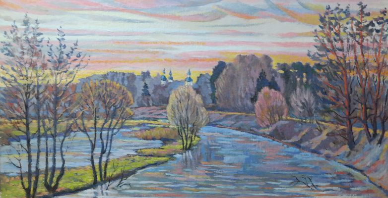 Valery Sergeevich Semenov. R.Sherna - big water. Morning