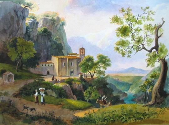 Валерий Гогадзе. Пейзаж с монашками